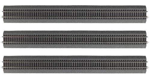 + + 3 Stück NEU /& OVP Roco 42506 H0 Gerades Gleis 920mm mit Bettung