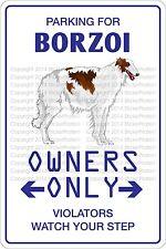 Metal Sign Parking For Borzoi 8� x 12� Aluminum Ns 424