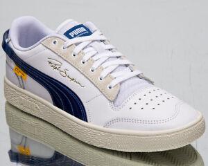 Dettagli su Puma x Randomevent Ralph Sampson lo Uomo Bianco True Blue Lifestyle Sneakers