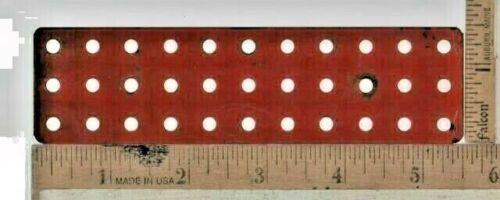 "1933-62 A C GILBERT ERECTOR SET PART MF 1/"" X 5/"" BASE RED BLUE ALUMINUM OR SILVER"