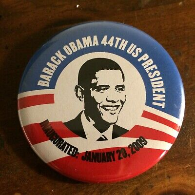 Barack Obama Inaugural Enamel Lapel Pin Pinback 2009 Presidential Inauguration