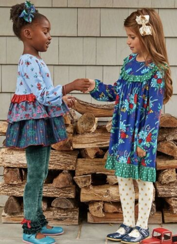 Details about  /Matilda Jane MERRY AND BRIGHT Dress Girls Size 2 Christmas Ruffled Holiday NWT