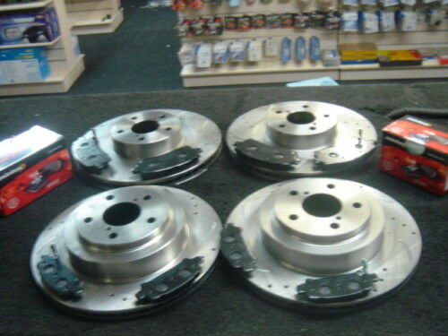 LEGACY TWIN TURBO DRILLED GROOVED DISCS MINTEX PADS