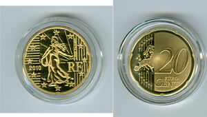 France 20 Cent Pp / Proof (Choisissez Entre Les Millésimes : 2007-2020)