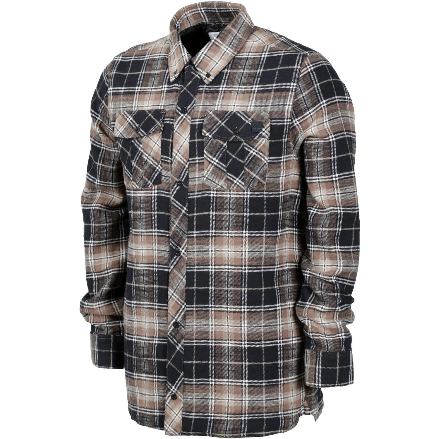 VOLCOM Mens 2017 Snowboard Western Teak Plaid SIMONS INSULATED FLANNEL JACKET