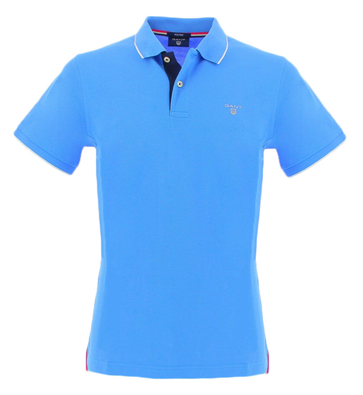 Gant 2012000445 PACIFIC blue Gant men's light bluee and cotton poloshirt