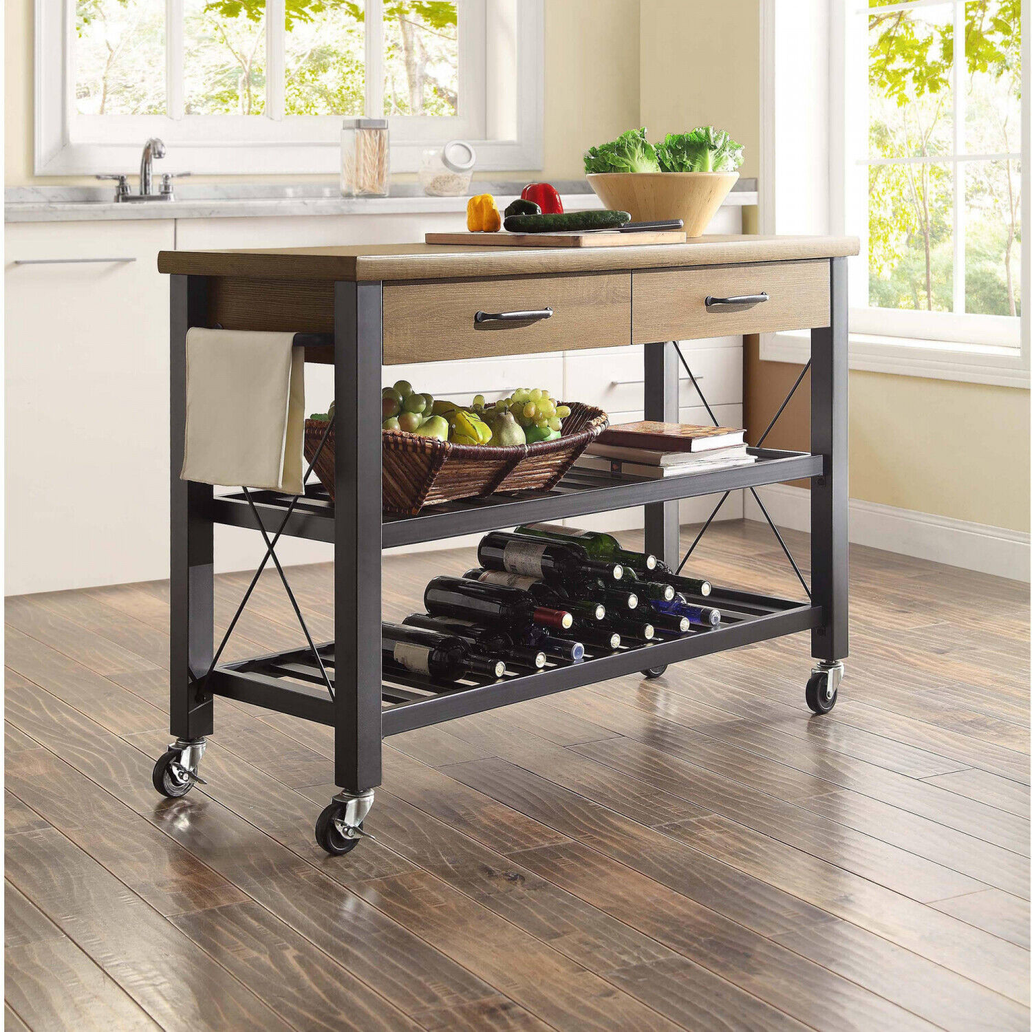 Picture of: Craftsmen French Country Butcher Block Kitchen Island Storage Work Table For Sale Online Ebay