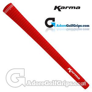 Karma-Velour-Standard-Size-Round-Golf-Grips-Red-x-1