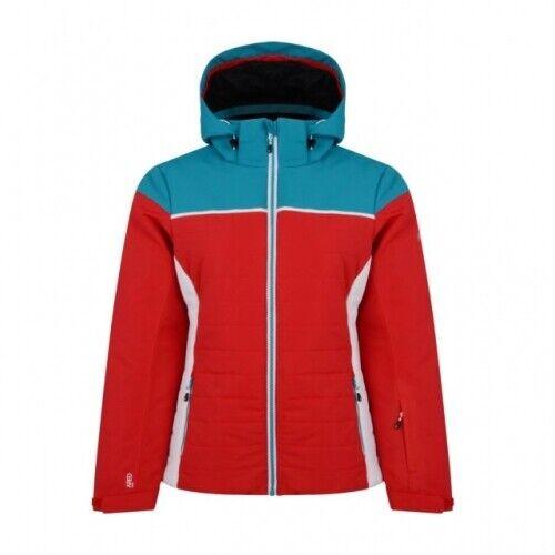 Dare2b Sightly Jacket Damen Ski - und Snowboardjacke Damen rot-türkis Skijacke