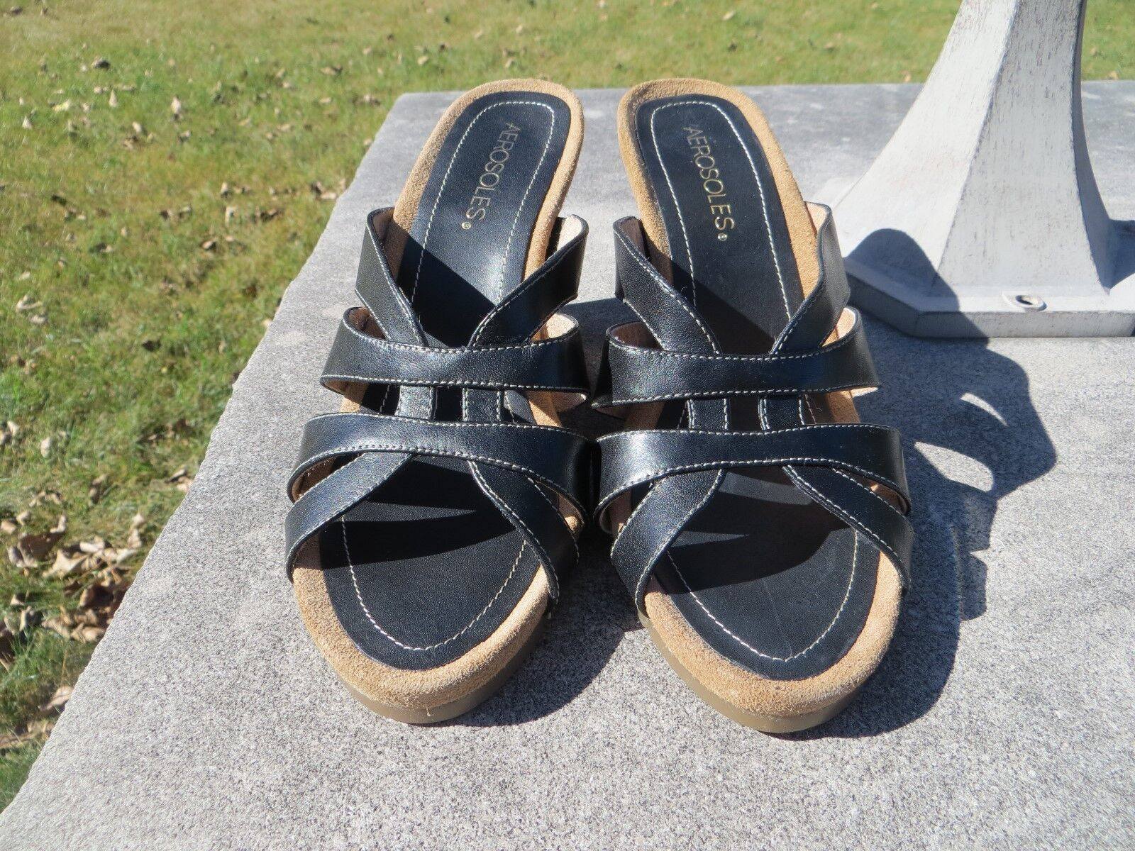 Boho-Chic Mules / Flats, Slip-on, Sparkle Sequined Beaded Slide-on Black Sz 10