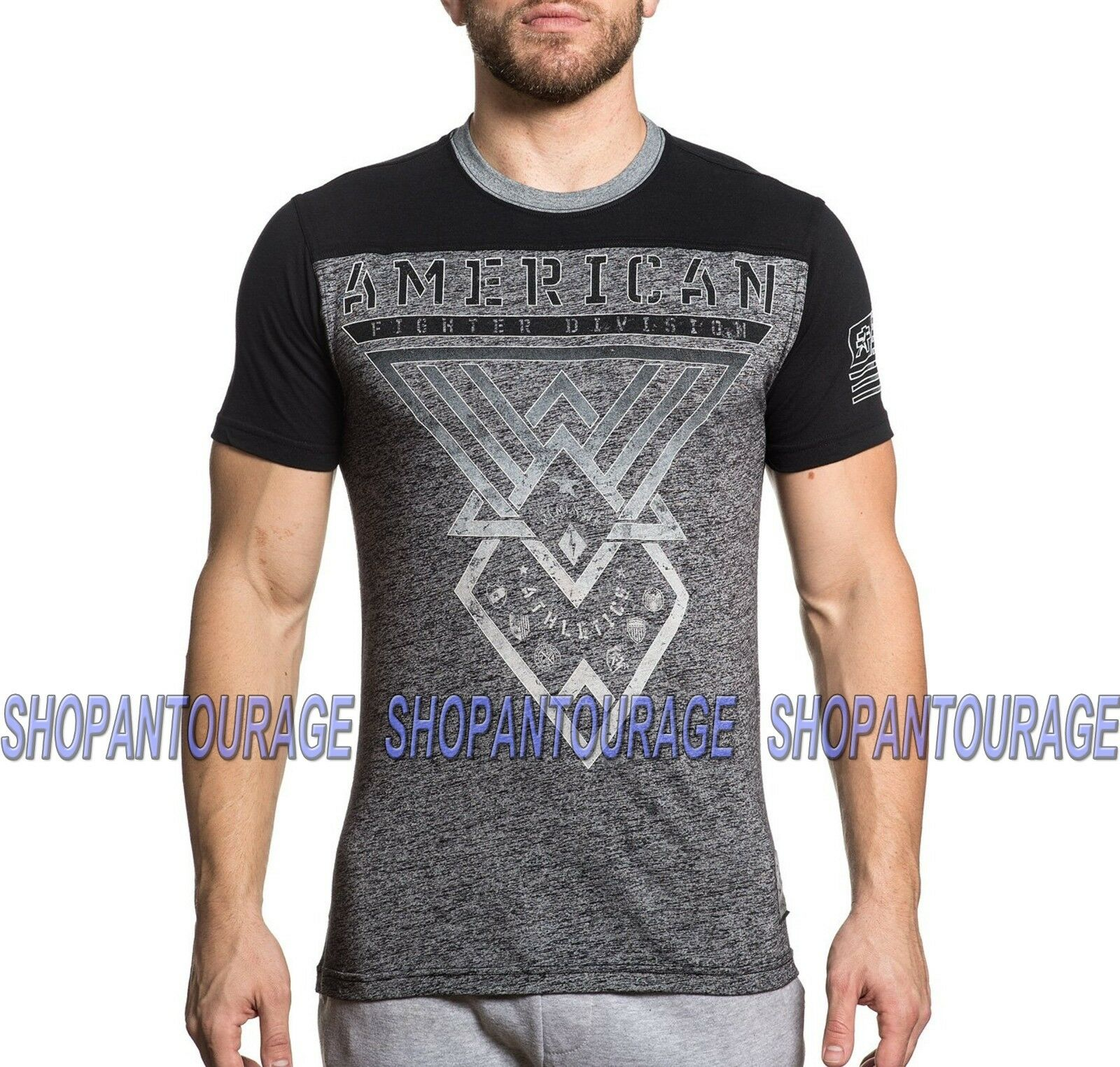 AMERICAN FIGHTER Ledford FM6802 New Men`s Short Sleeve T-shirt By Affliction