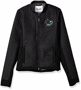 Touch-by-Alyssa-Milano-NHL-San-Jose-Sharks-Women-039-s-Lead-Off-Jacket-Black-Large