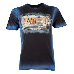 Deadwood-Harley-Davidson-Men-039-s-Vintage-Saloon-Short-Sleeve-T-Shirt