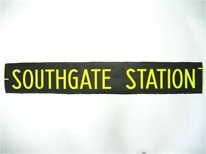 Southgate-Station-bus-blind-vintage-screen-printed-London-destination