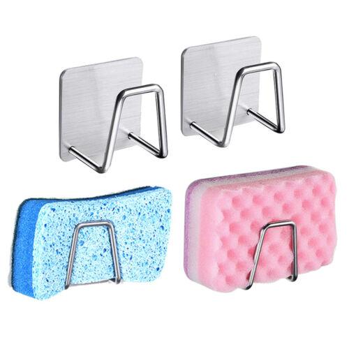 Kitchen Storage Rack Holder Drainer Stainless Steel Shelf Soap Sponge Organizer