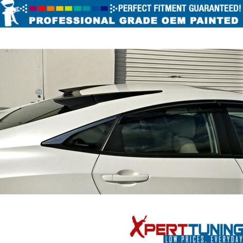 Fits 16-18 Civic 10th Gen X Sedan 4-Door Type R Roof Spoiler OEM Painted Color