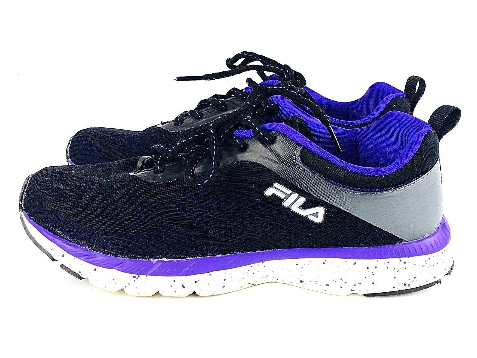 Fila Women's 7 Memory Outreach Foam Shoes Black Purple Athletic Price reduction Seasonal price cuts, discount benefits