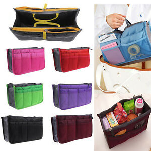 Image Is Loading Lady Women Insert Handbag Organiser Purse Large Liner
