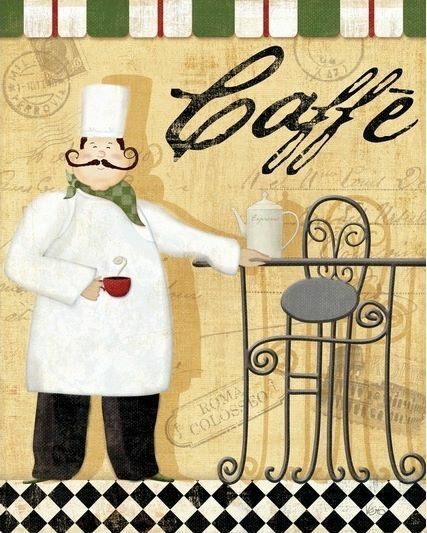 Bon Appetit I Keilrahmen-Bild Leinwand Küche Koch Esszimmer Veronique Charron