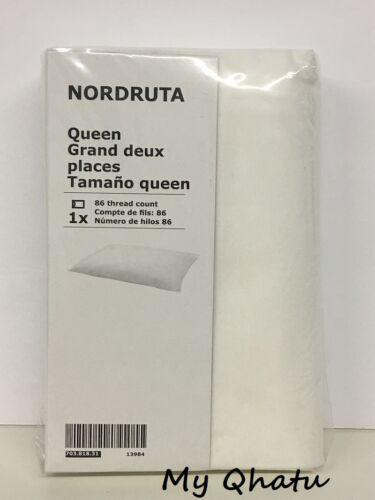 "IKEA NORDRUTA Pillowcase Queen size White Cotton flannel 20/"" x 30/"" NEW"