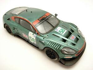 Vintage-Hornby-Slot-Racing-Car-Aston-Martin-DBR9-1-32-Head-Tail-Lights-Tested