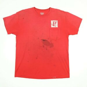 Destroyed-Lawn-Worker-T-Shirt-LARGE-Faded-Paint-Distress-Grunge-Chore-Workwear