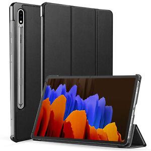 Pellicola-vetro-Custodia-slim-case-smart-cover-per-Samsung-Galaxy-Tab-S7-Plus