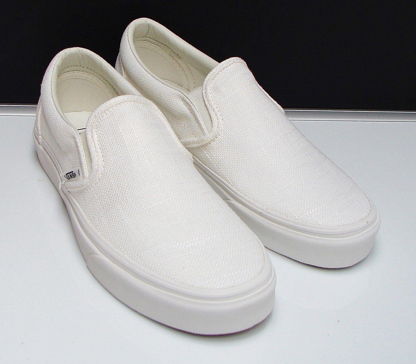 VANS CLASSIC SLIP-ON (HEMP LINEN) white De white  VN-0A38F7NSU Women's size  8