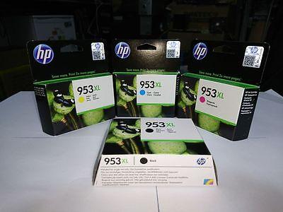 HP 953XL Genuine Original Ink 4 Lot Yellow Magenta Cyan Black Sealed Brand New