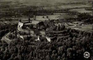 Veste COBURG 1960 Burg Luftbild Luftaufnahme Fliegeraufnahme s/w Ansichtskarte