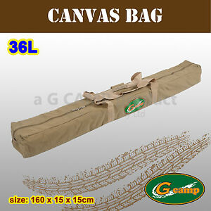 Image is loading G-CAMP-CANVAS-BAG-CARRY-TRAVEL-AWNING-POLE- & G CAMP CANVAS BAG CARRY TRAVEL AWNING POLE CAMPING 4X4 TRAILER 4WD ...