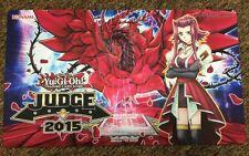 YuGiOh 2015 150th YCS Judge Playmat Akiza Black Rose Dragon Mint