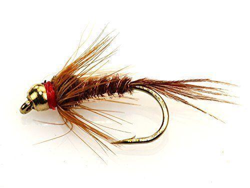 BH Pheasant Tail Assortment; 1 Dozen Trout Fishing Flies
