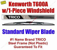 Wiper Blade 1pk - Fits 2007 Kenworth T600a W/1-piece Windshield - 30180