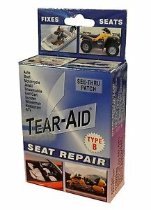 Tear Aid Repair Type B Vinyl Seat Repair Kit Clear Car