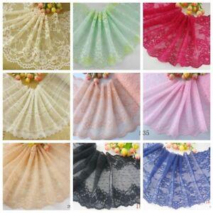 Delicat-1-Yd-environ-0-91-m-Bordure-en-Dentelle-elastique-Spandex-Doux-Fleur-Floral-Bordure-en