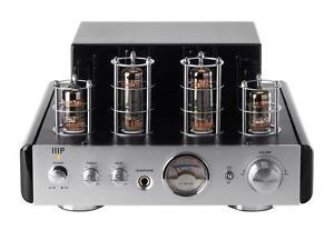 Monoprice® 25-Watt AB Power Amplifier Stereo Hybrid Tube Amp with Bluetooth