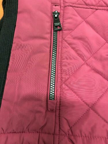 Andrew Marc Ladies' Quilted Insulated Vest  Color Beet Size Small NWT