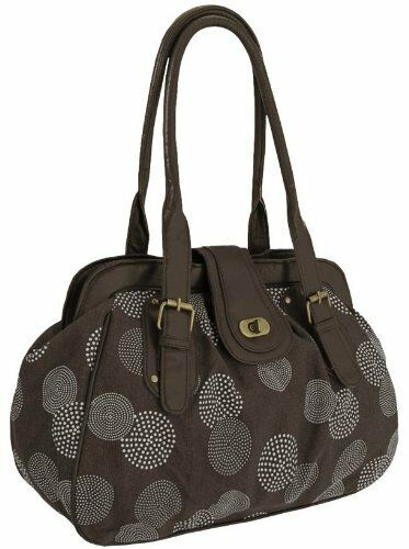 Womens Floral Canvas Messenger Shoulder Handbag Purse Ladies Two Strap Bag