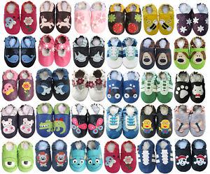 carozoo Fr bébé chaussons enfant chaussures cuir de mouton semelle nouveau