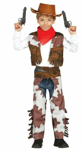 Boys Cowboy Wild Western Rodeo Fancy Dress Costume Childrens Book Day Outfit