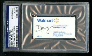 Doug McMillon signed autograph auto Walmart President & CEO Business Card PSA
