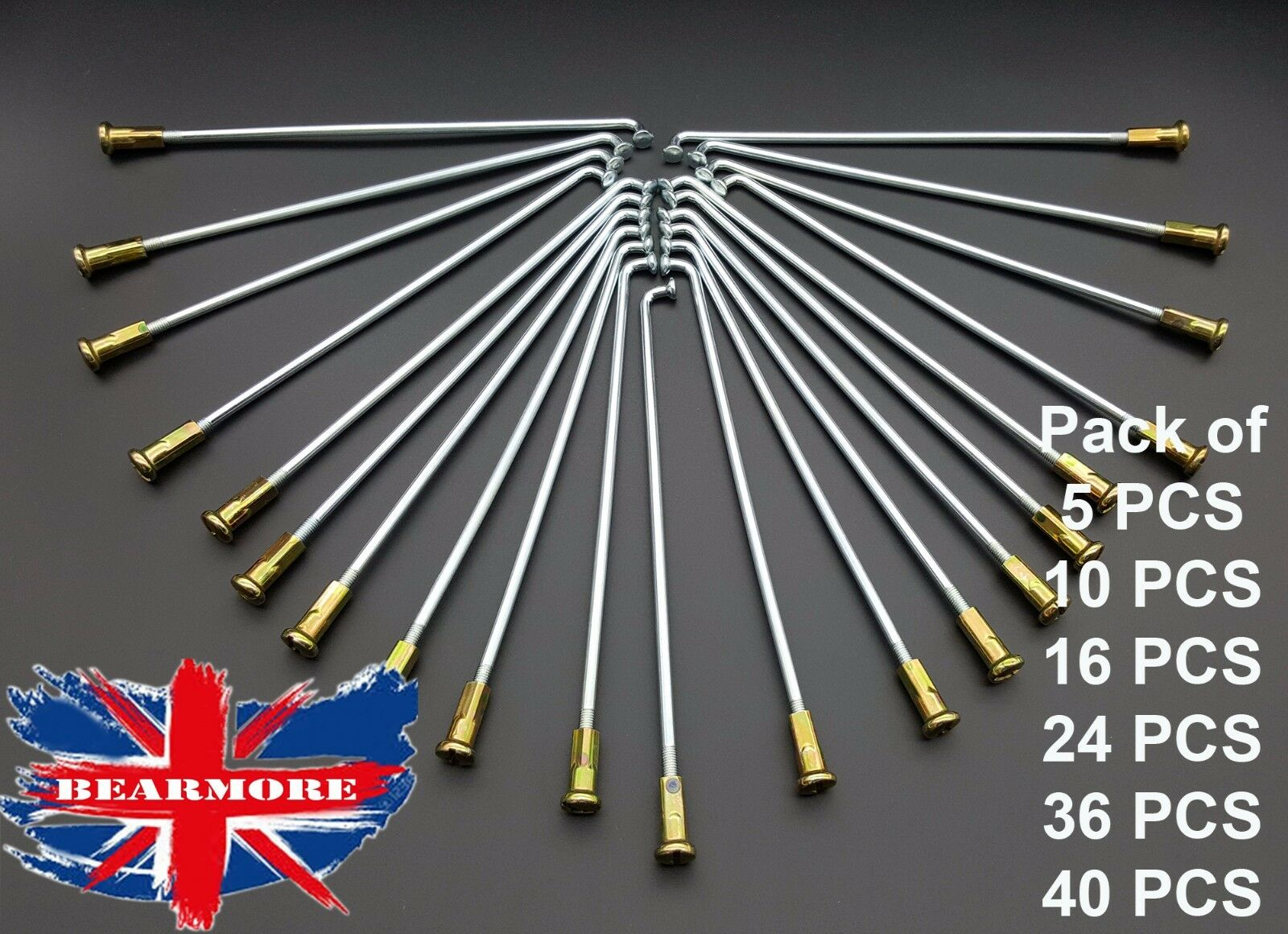168mm ( 6-5 8 ) MOTORCYCLE SPOKES KIT FRONT REAR WHEEL SPOKES AND NIPPLES KIT