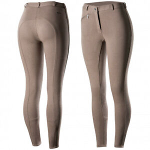 Horze-Women-039-s-Active-Silicone-Grip-Full-Seat-Riding-Breeches-Elastic-Leg-Bottoms