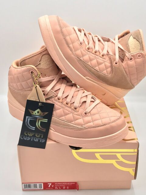 super popular 23d31 1537b PRE-OWNED LIMITED Air Jordan 2 x Just Don Retro GG ARCTIC ORANGE YOUTH SIZE