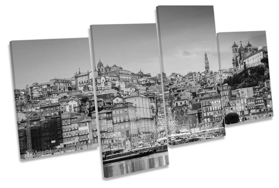 Porto Portogallo Tramonto B&W A A A MURO ARTE Multi Box incorniciato 2000b3