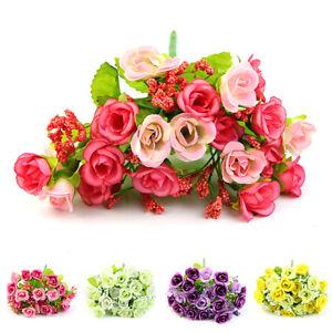 21-Head-Artifical-Rose-Silk-Flower-Wedding-Bouquet-Office-Home-Best-Decor-Hot