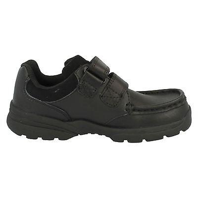 Ausverkauf Clarks 'ZAYDEN Go' Jungen schwarzes Leder Smart Schuhe f PASSUNG