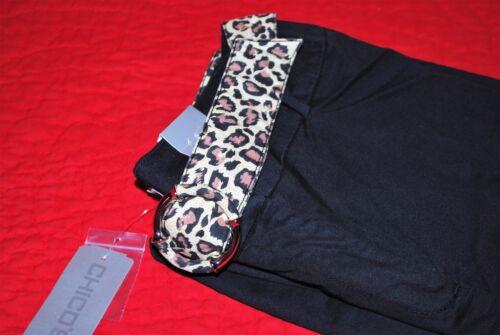 Animal Pantaloni libera Twill Print Nave Broken taglia Chico's Catalina 401002868573 Ii Belt neri 1 I18R4q