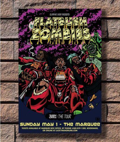 Flatbush Zombies New Custom Rap Music Singers T-993 Art Poster 24x36 27x40